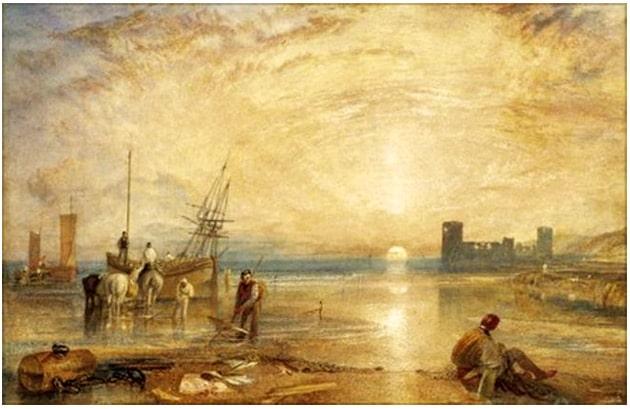 chateau_fort_anglais_Flint_pays_de_galles_peinture_turner