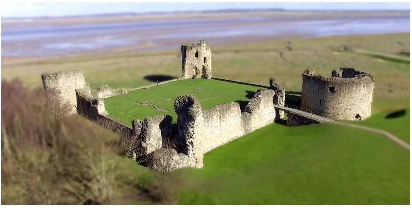 Le château-fort de Flint premier pont de conquête du Pays de Galles par Edouard 1er dans l'Angleterre médiévale du XIIIe siècle