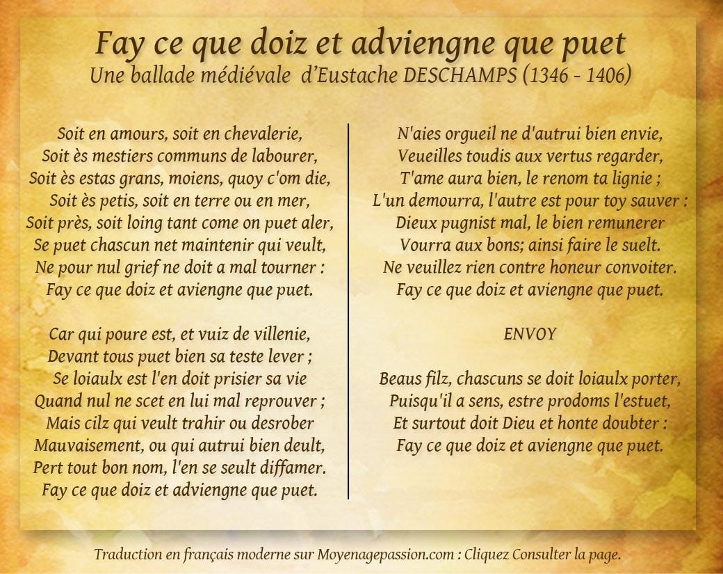 eustache_deschamps_poesie_morale_ballade_medievale_litterature_moyen-age_valeurs_honneur_loyaute