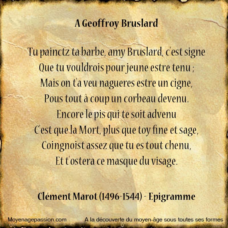 poesie_humour_satirique_renaissance_moyen-age_tardif_Clement_Marot_Epigrammes