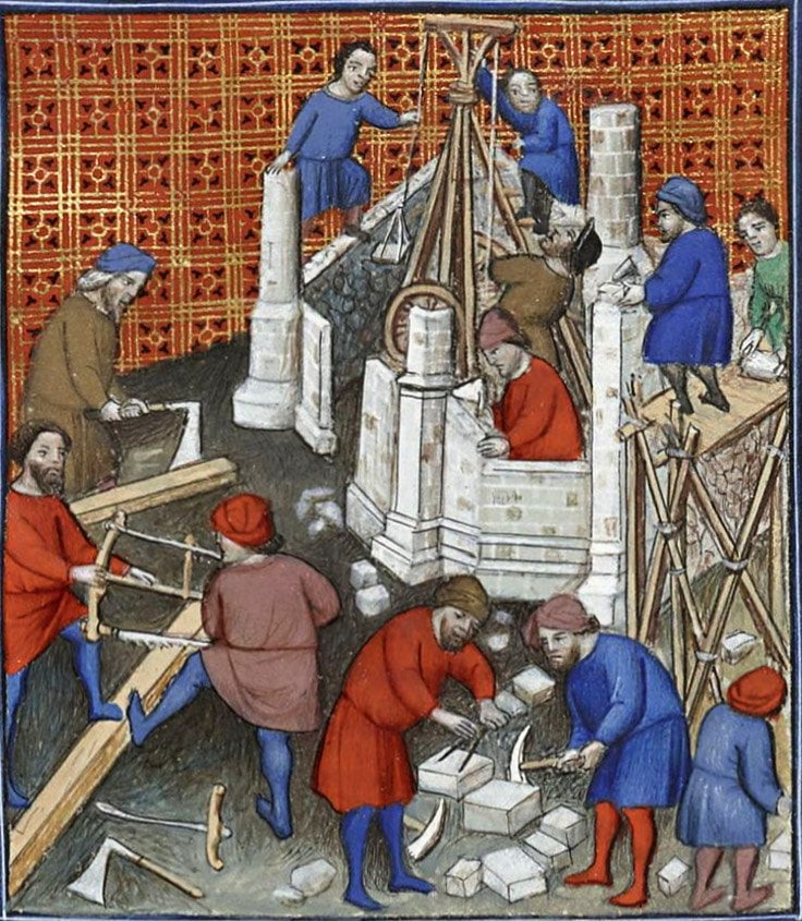 enluminure_chantier_medieval_construction_moyen-age_metiers_ouvrier_conditions_travail
