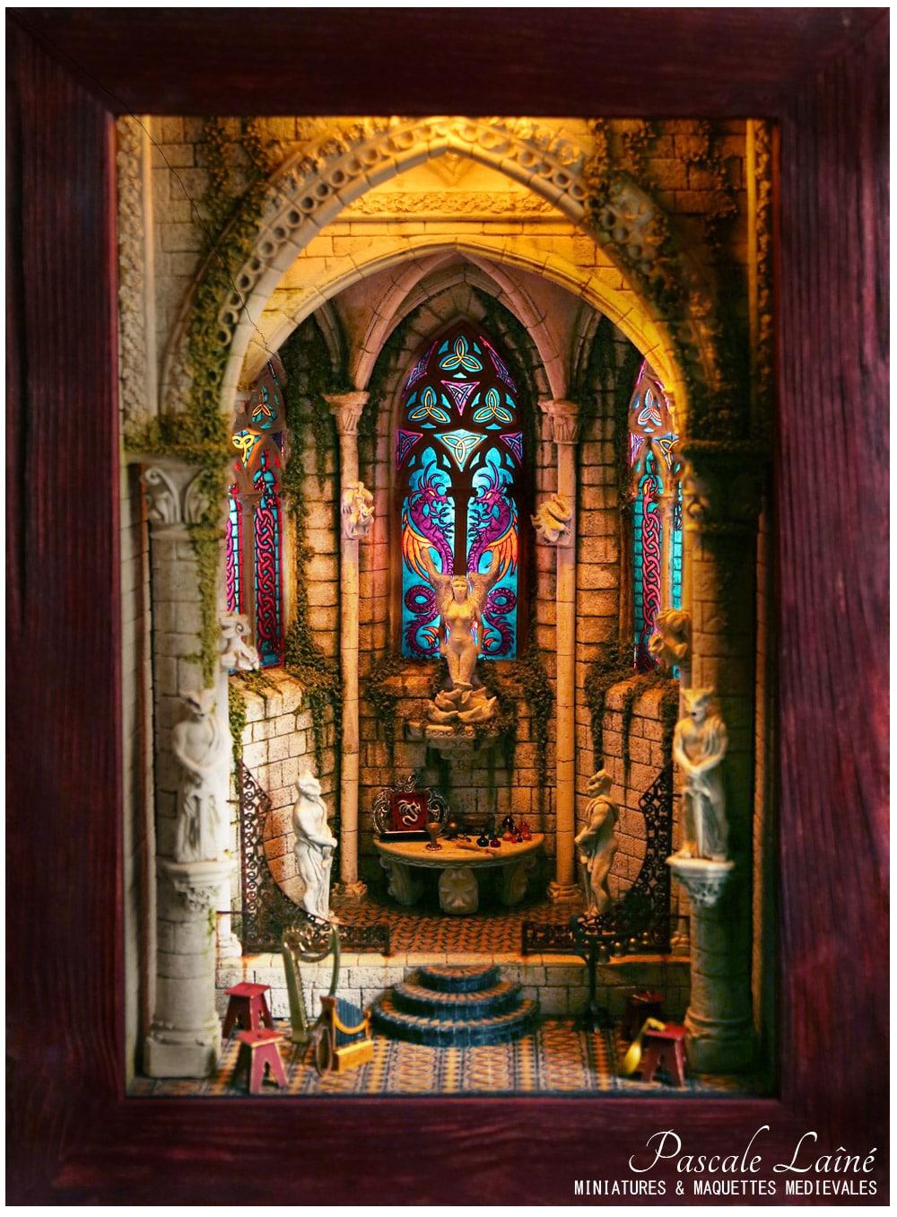 Maquettes médiévales : Ode à Mélusine, un oeuvre de Pascale Lainé