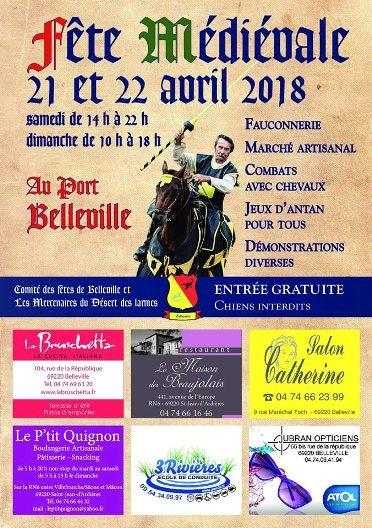 agenda_fete_medievale_belleville_sur_saone_animations_campements_fauconnerie
