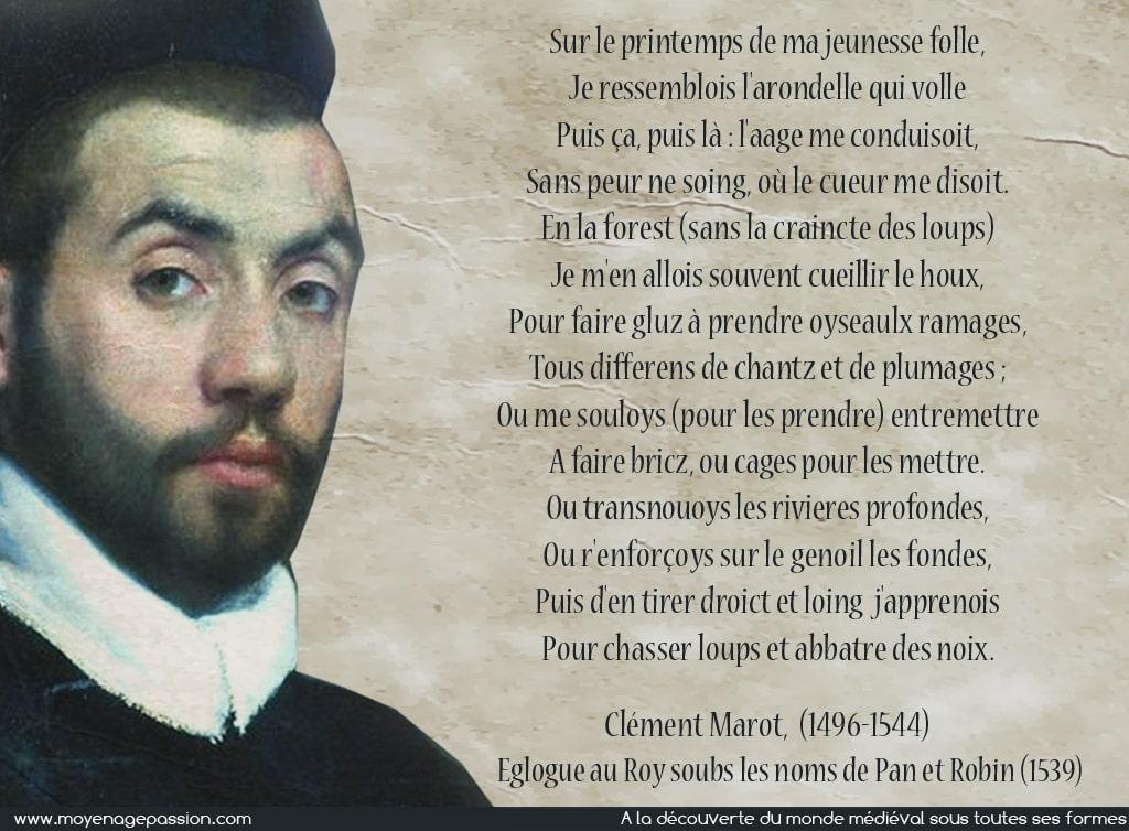 clement_marot_poesie_jeunesse_folle_eglogue_au_roi_pan_et_robin_moyen-age_tardif
