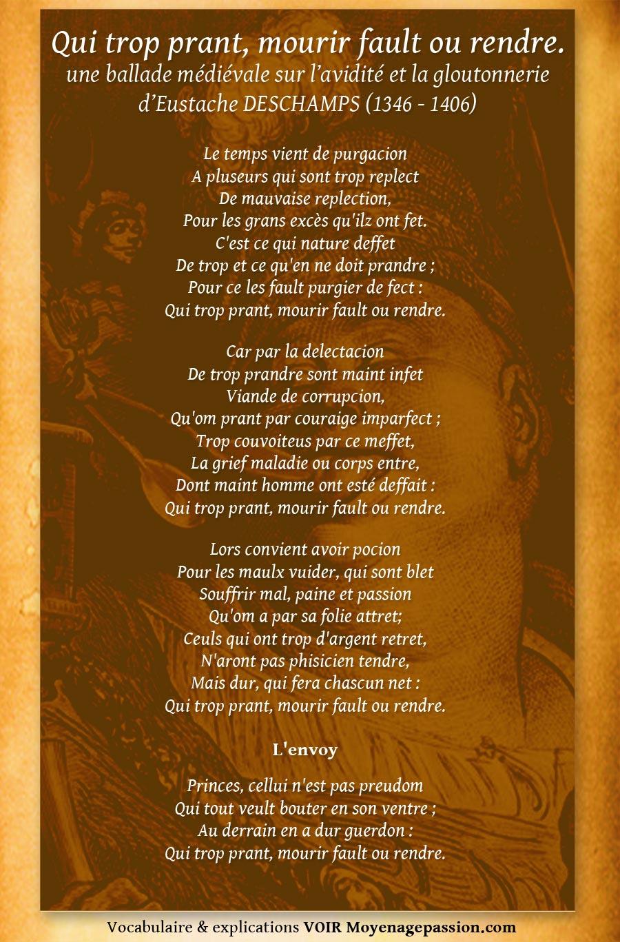 eustache_deschamps_poesie_medievale_litterature_morale_satirique_gloutonnerie_avidite_moyen-age