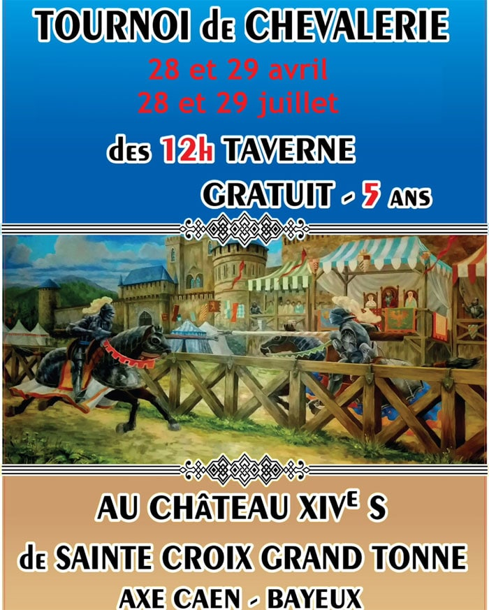 evenement_agenda_animations_medievale_tournois_chevalerie_chateau_grand_tonne_normandie