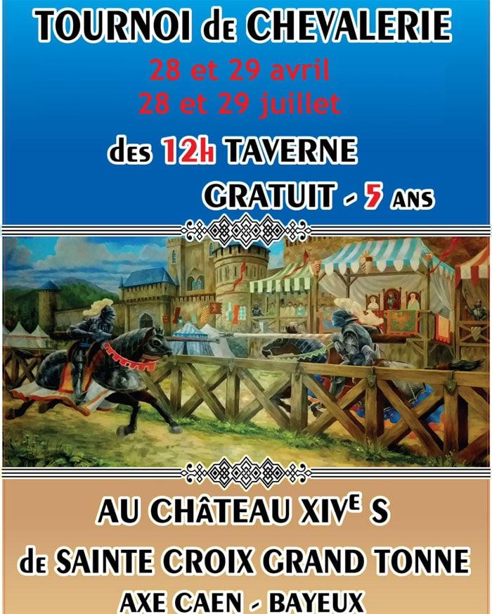 evenement_agenda_animations_medievale_tournois_chevalerie_chateau_grand_tonne_normandie
