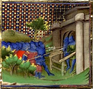 Montferrand_siege_routiers_sac_1388_enluminure_medievale_MS_865_besancon_moyen-age_XIVe_siècle