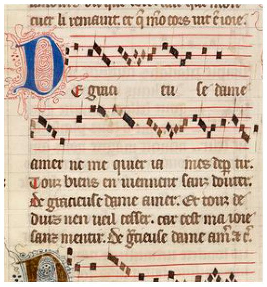 jehannot_de_lescurel_de_gracieuse_dame_amer_musique_chanson_rondeau_medieval_MS_146_moyen-age_XVIe_siecle