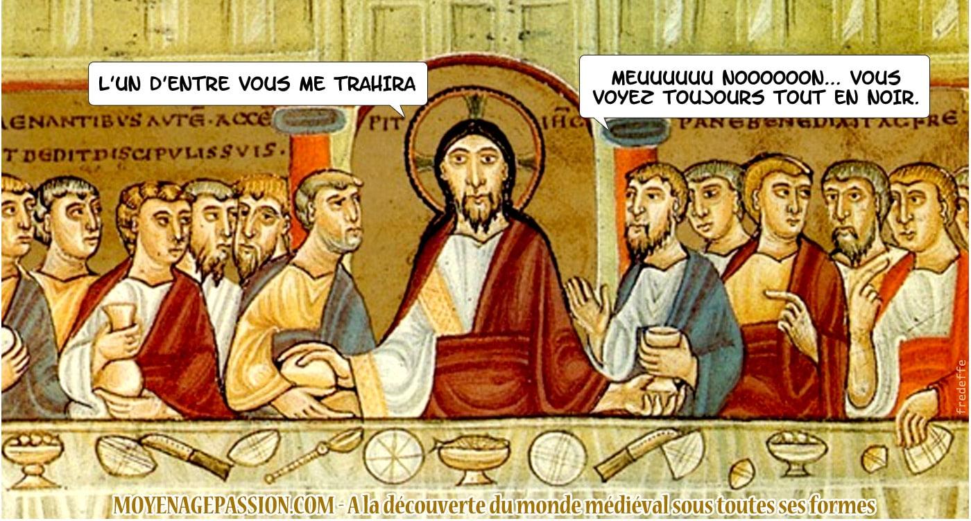 moyen-age_chretien_humour_monde_medieval_cene_christ_trahison