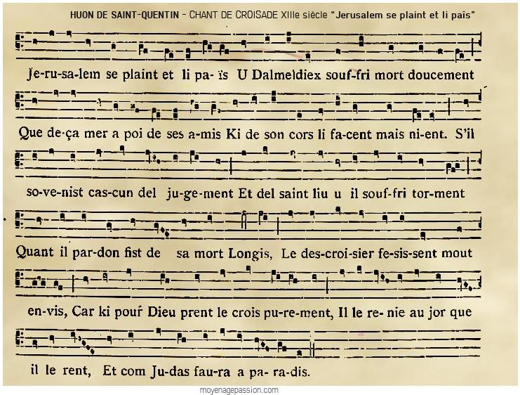 musique_poesie_chanson_trouvere_huon_saint_quentin_jerusalem_se_plaint_moyen-age