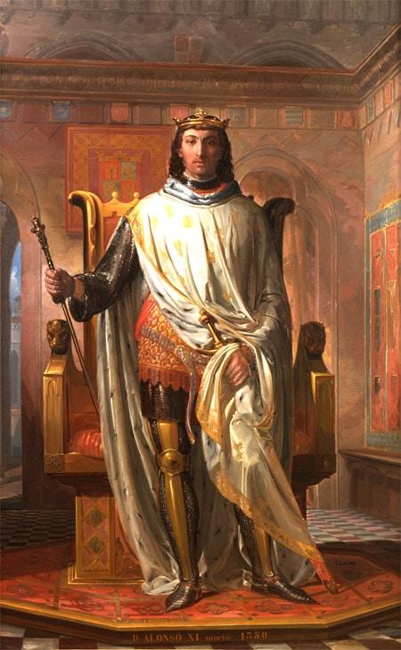 Espagne_medievale_roi_alphonse_XI_de_Castille_le_justicier_moyen-age_central_XIVe