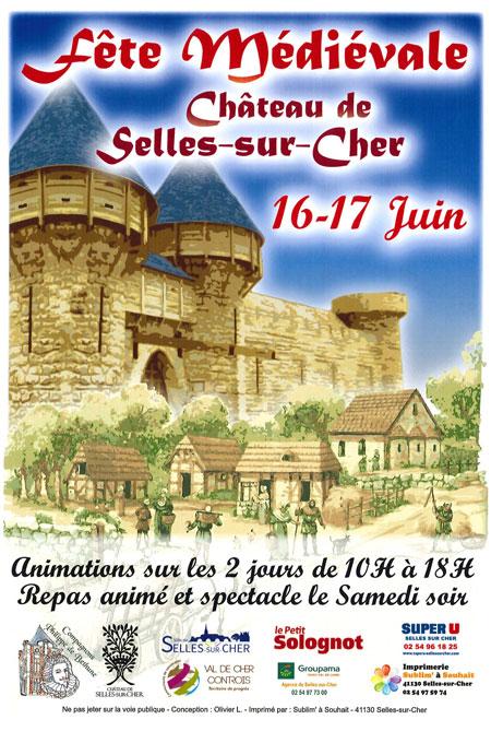 agenda_medieval_fetes_animations_chateau_selles_sur_cher_2018_Loire