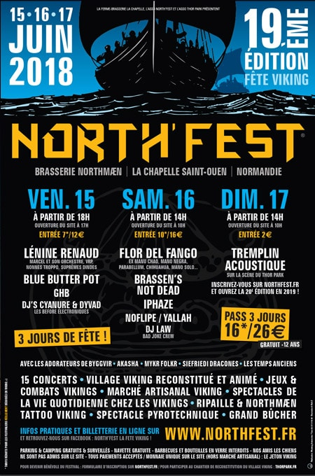 agenda_medieval_fetes_animations_viking_moyen-age_Northfest_2018_Normandie