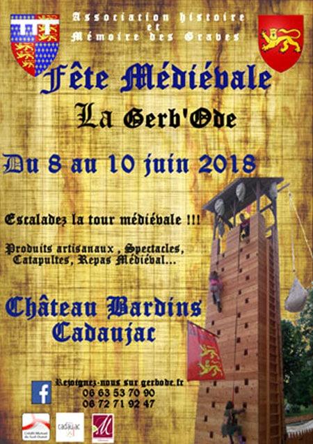 fetes_festivites_animations_medievales_chateau_cadaujac_la_gerbode
