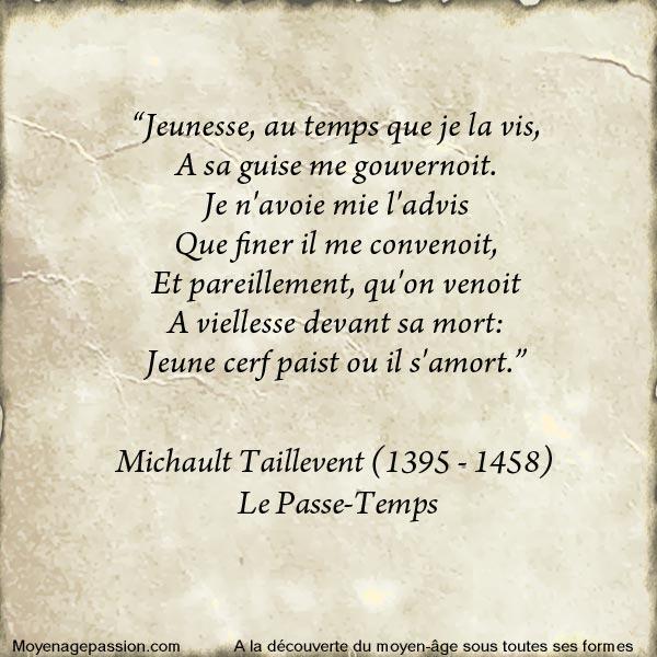 michault_caron_taillevent_extraits_litterature_poesie_medievale_passe_temps