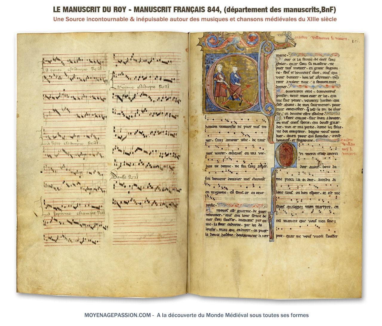 musique_chanson_medievale_estampie_francais_844_manuscrit_chansonnier_du_roy_roi_moyen-age