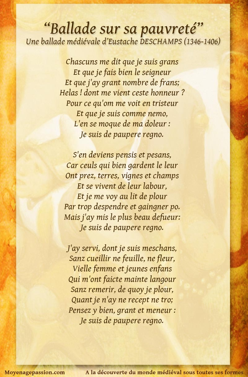 poesie_eustache_deschamps_ballade_medievale_pauvrete_paupere_regno_litterature_moyen-age_proverbe