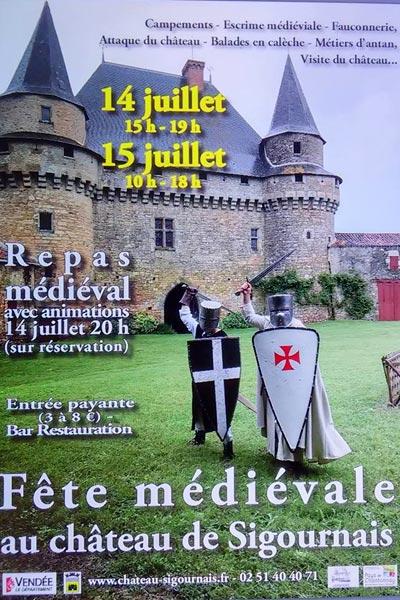 fetes_medievales_marche_animations_château_de_sigournais_vendee_loire