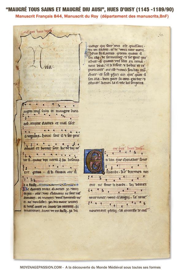 huon_hues_oisy_trouvere_moyen-age_XIIe_siecle_poesie_satirique_musique_medievale