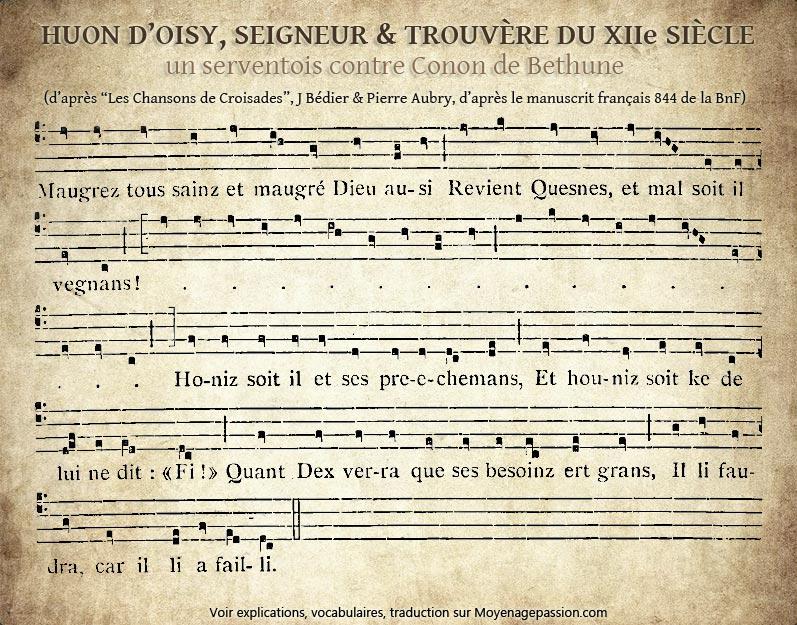 trouvere_huon_oisy_poesie_satirique_chanson_medievale