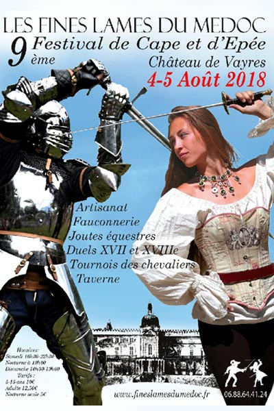 animations_medievales_festival_chevalier_mousquetaires_chateau_vayres_medoc