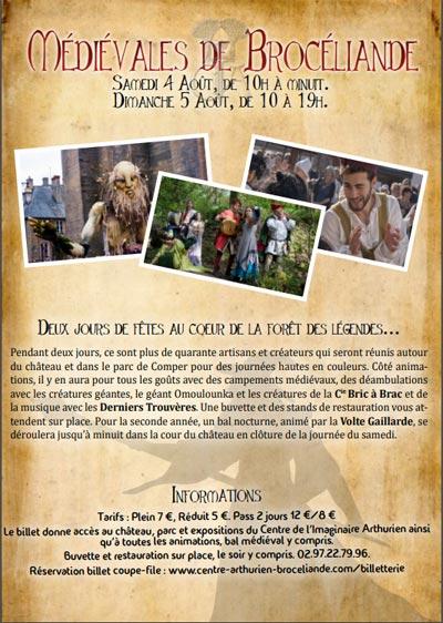 medievales_marche_animations_foret_broceliande_chateau_comper_morbihan_bretagne