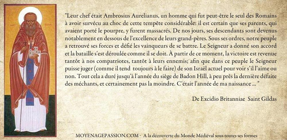 Citation extraite de De Excidio Britanniae Saint Gildas