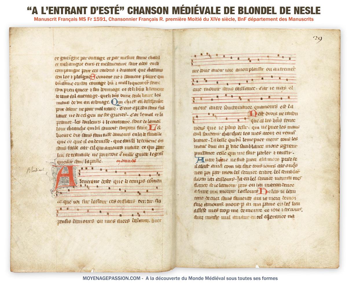blondel_de_nesle_musique_chanson_medievale_amour_courtois_manuscrit_ancien_francais_1591_chansonnier_moyen-age