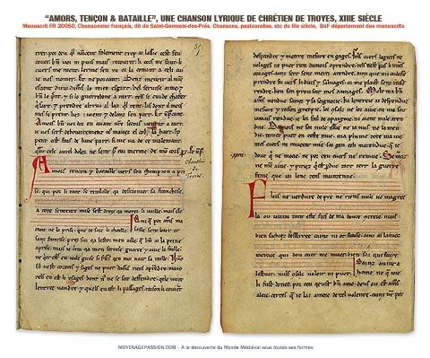 chrétien_de_troyes_poesie_medievale_amor_tenson_bataille_manuscrit_fr_20050_chansonnier_saint-germain-des-pres_moyen-age_480