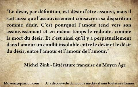 citation_litterature_medievale_moyen-age_amour-courtois_Michel_zink