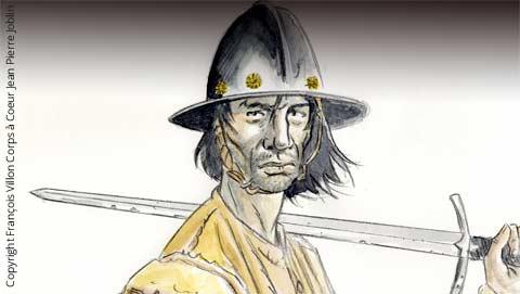 Illustration de Jean-Pierre Joblin tirée de l'ouvrage François Villon, Corps à Coeur