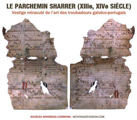 parchemin_sharrer_musiques_poesies_chansons_medievale_galaico-portugaise_denis_1er_portugal_moyen-age
