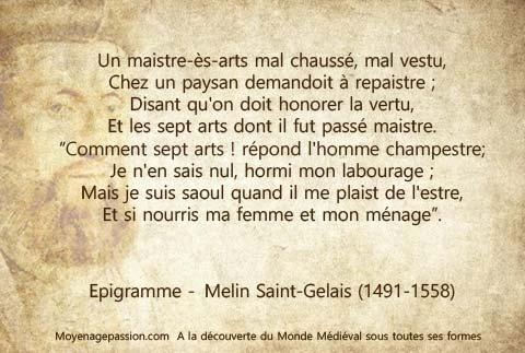 poesie_epigramme_humour_medieval_renaissance_moyen-age-tardif_Melin-Saint-Gelais
