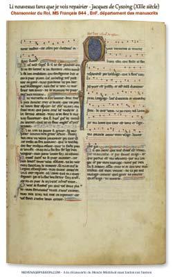 Manuscrit-ancien_Francais_844_chanson-medievale_sirvantois_jacque-de-cysoing_moyen-age_XIIIe-siecle_s