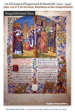 Manuscrit_anciens_chroniques_Enguerrand_de_Monstrelet_moyen-age_XVe-siecle_s
