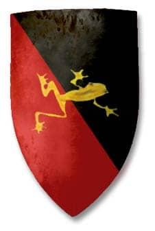 compagnie-medievale-guilde-de-la-grenouille_armoirie_ecu_blason_Occitanie