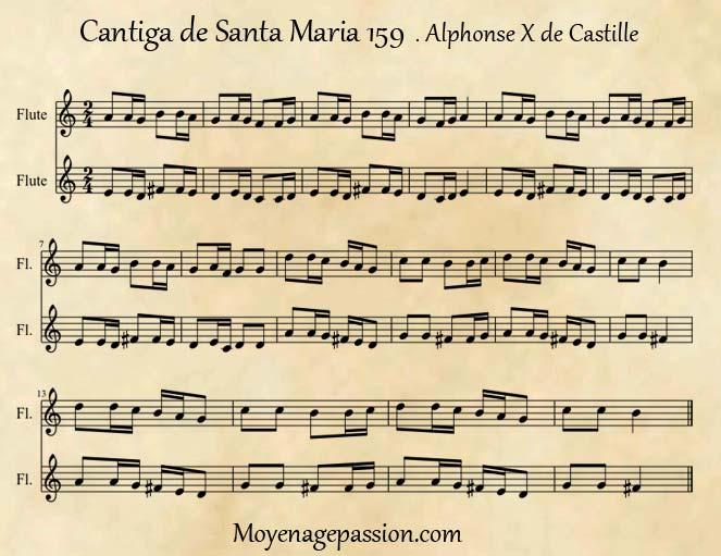 cantiga-santa-maria-partitions-musique-medievale-moyen-age_XIIIe-siecle_Alphonse-le-sage
