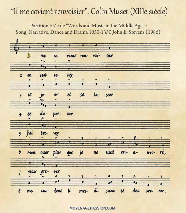 colin-muset_musique-medievale_chanson-poesie-moyen-age_partition