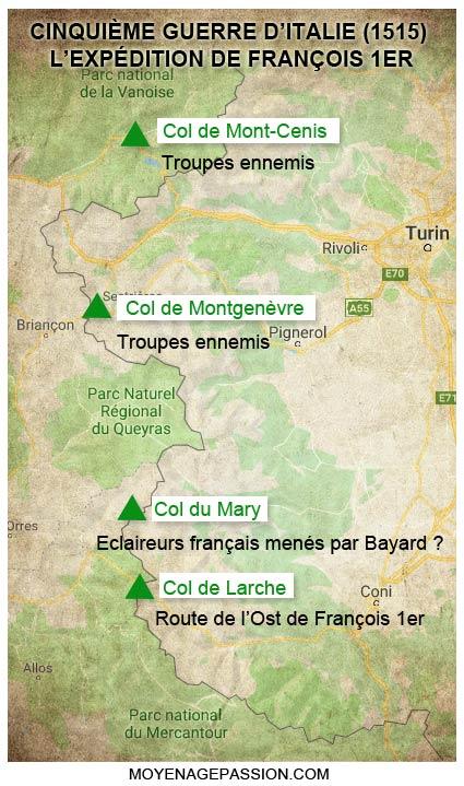 françois-1er_guerres-d-italie_1515_carte_route-alpine