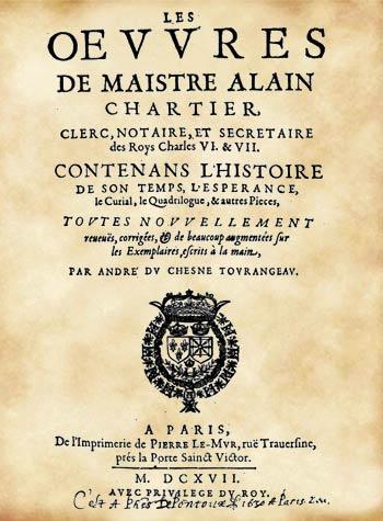 poesie-satirique-medievale-Alain-Chartier-exil_Livre-de-l-esperance-Moyen-age-tarfif_XVe
