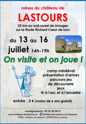 animations-medievales-chateau-rilhac-lastours-limousin-Haute-Vienne