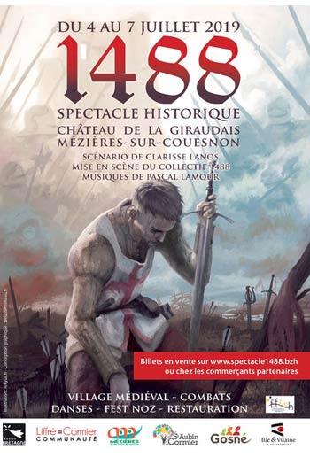 spectacle-historique-animations-moyen-age-Château-de-la-Giraudais-Mézières-sur-Couesnon-Bretagne