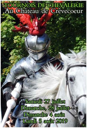 tournois-de-chevalerie-animations-medievales-chateau-crevecoeur-en-auge-Normandie