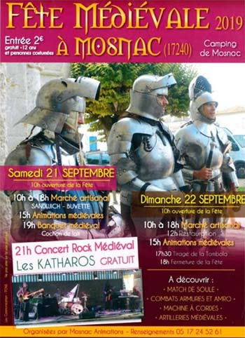 medievale-Mosnac-2019-animations-week-end-Charente-Nouvelle aquitaine