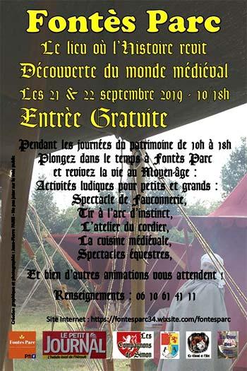 week-end-medieval-parc-fontes-herault-occitanie-2019