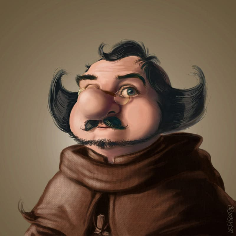 moine-humour-medieval-moyen-age-legende-doree-joblin-le-discot
