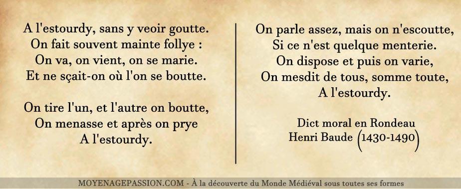 henri-baude-poesie-medievale-dict-moral-rondeau-moyen-age-tardif-XVe