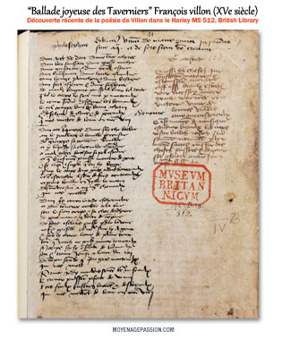 manuscrit-ancien-ballade-medievale-françois-villon-moyen-age-tardif-bibliographie-s