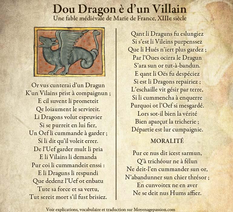 dragon-fable-medievale-ysopet-marie-de-france-moyen-age-vieux-francais-oil